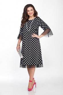 платье TEZA 2031 горох-черный