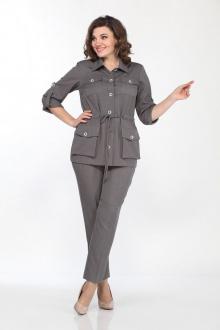 брюки,  жакет Lady Style Classic 2151 светло-серый