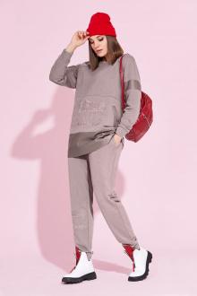 брюки,  свитшот Милора-стиль 858 капучино
