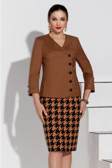 жакет,  юбка Lissana 4231 лапка+карамель