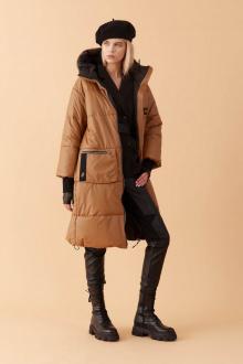 пальто Lakbi 51823 корица