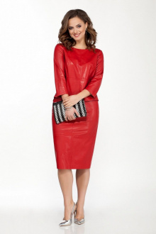 блуза,  юбка TEZA 1800 красный