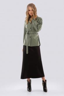 рубашка,  юбка PiRS 885 зеленый-черный