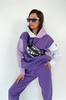 127-начес фиолетовый-белый-лиловый