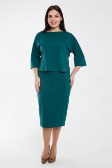 блуза,  юбка Gold Style 2462 изумрудно-зеленый