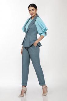 блуза,  брюки,  жилет LaKona 1354/1 лазурный