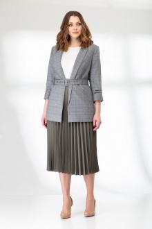 блуза,  жакет,  юбка Elady 3826 клетка