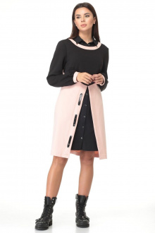 платье,  накидка Angelina & Сompany 497р черно-розовый