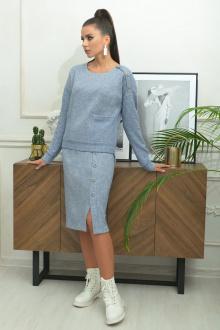 джемпер,  юбка Galean Style 806 голубой