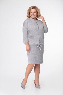 жакет,  юбка DaLi 2423 серый