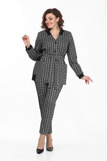 брюки,  жакет Lady Style Classic 2130/1 серый-черный