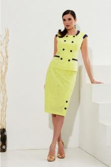 жакет,  юбка Lissana 4230 лимонно-желтый