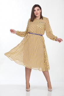 Lady Style Classic 2205/3 желтый- синий_горох