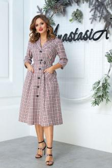 Anastasia 527 серо-бордовый
