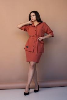 блуза,  юбка Angelina 640 оранжевый