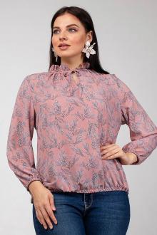 блуза La rouge 6173 розовый-(веточки)