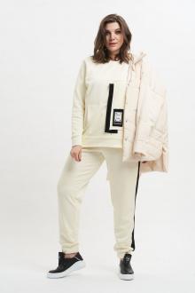 брюки,  свитшот GRATTO 1007 молочный