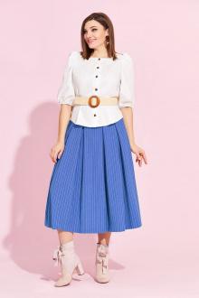 блуза,  юбка Милора-стиль 864 голубая_юбка
