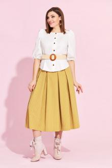 блуза,  юбка Милора-стиль 864 горчица_юбка