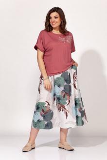 блуза,  юбка ELLETTO 5134 розовый
