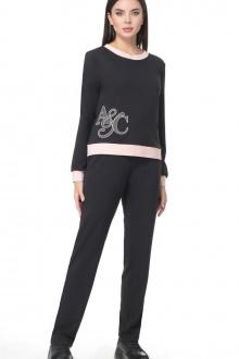Angelina & Сompany 374/1 черно-розовый