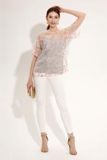 блуза,  топ Панда 481990 серый