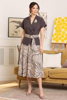 Мода Юрс 2641 баклажан-бежевый