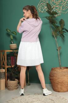 платье TAiER 955 лаванда+экрю
