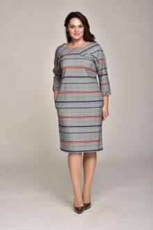 Lady Style Classic 1557 серый+полоски