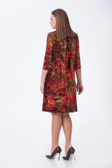 платье Gold Style 2076 красный+коричневый