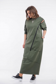 платье GRATTO 8111 хаки