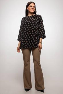 блуза La rouge 6172 черный-набивной