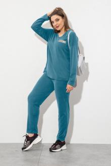 блуза,  брюки JeRusi 2106 бирюза