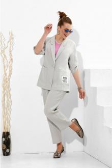 Lissana 4273 серый+розовая_бегония