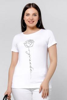 майка La rouge 3140 белый-(роза)