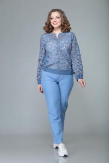 бомбер,  брюки Арита-Denissa 1344 голубой