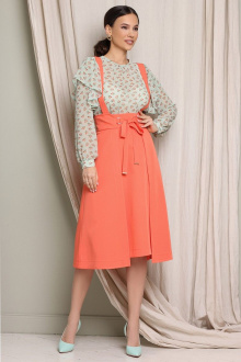 блуза,  юбка Мода Юрс 2646 персик