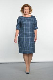 Lady Style Classic 926 синий+голубая_клетка
