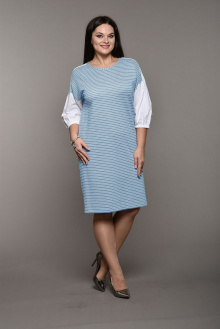 Lady Style Classic 1571 голубой+полоска