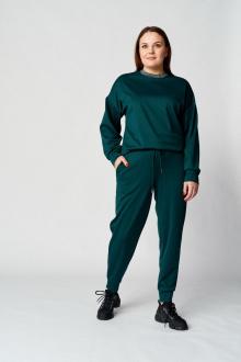 брюки,  джемпер Almirastyle 102 зеленый