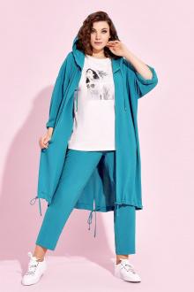 брюки,  кардиган,  футболка Милора-стиль 895 бирюза
