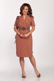 Платье Dilana VIP 1692 капучино
