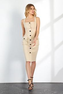платье Vladini DR1151 бежевый