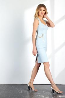 платье Vladini DR1158 голубой