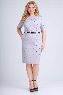 платье Ollsy 1465 светло-сиреневый/горох