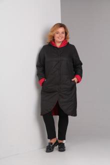 пальто Diamant 1328 черный-красный