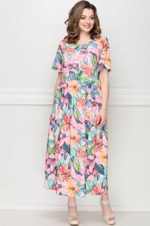 LeNata 13025 розовые-цветы