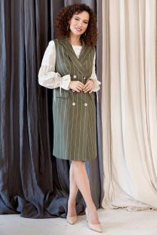 Мода Юрс 2676 зеленый-беж