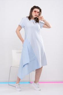 платье GRATTO 8003 голубой