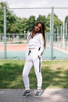 брюки Rawwwr clothing ВТ004-начес белый